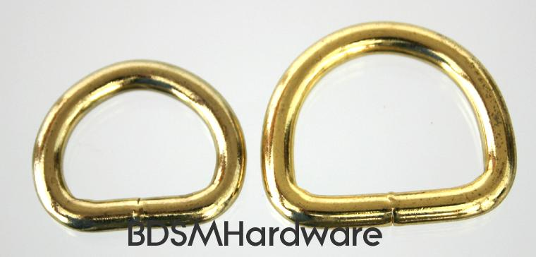 Heavy brass plated D rings for the leather and crafts trades